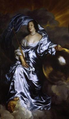 Антонис ван Дейк. Рэйчел де Рувиньи, графиня Саутгемптон, в образе Фортуны