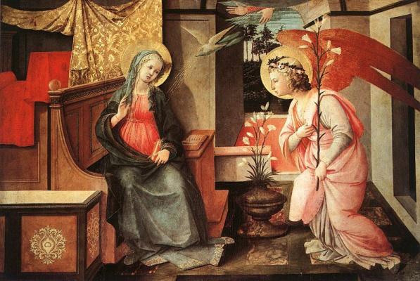 Fra Filippo Lippi. The Annunciation