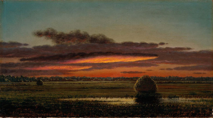 Martin Johnson Head. Sunset over the swamps