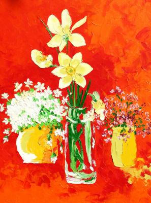 Alexander Ocher Kandinsky-DAE. Three spring bouquet
