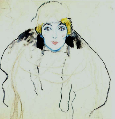 Gustav Klimt. Portrait of a lady (unfinished)