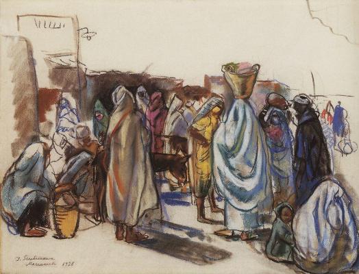 Zinaida Serebryakova. Bazaar, Marrakech