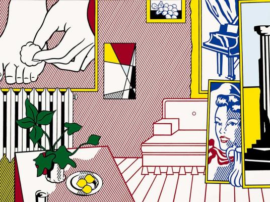 """Рой Лихтенштейн. """"Лечение стопы"""" в студии художника"""