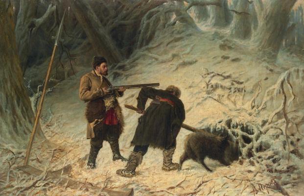 Vasily Grigorievich Perov. Boar hunting