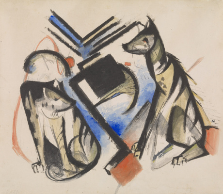 Franz Marc. Two wolves
