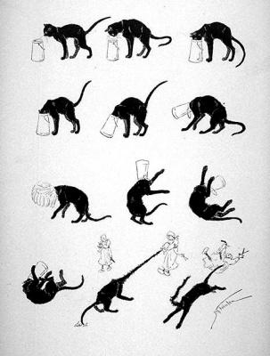 Теофиль-Александр Стейнлен. Кошки: картины без слов. Кот и молочный бидон