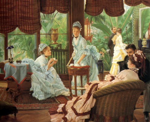 James Tissot. In the Conservatory