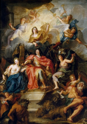 Antoine Quail. Allegory of the glory of Louis XIV
