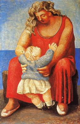 Пабло Пикассо. Мать и дитя