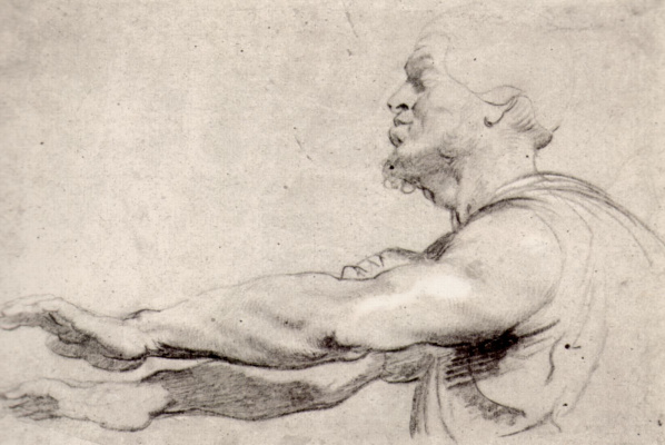 Peter Paul Rubens. Blind man with outstretched hands in front of him