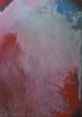 "Alla Struchayeva. The painting ""Flare at dawn"""