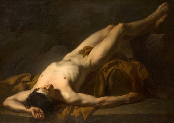 Jacques-Louis David. Lying naked. The thumbnail image of the body of Hector