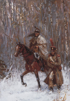 Aleksandr Chagadaev. Retreating French