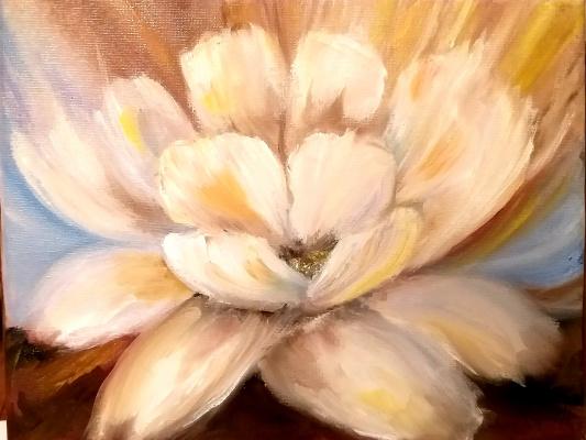 Валерия Костромина. Картина Пастельный цветок