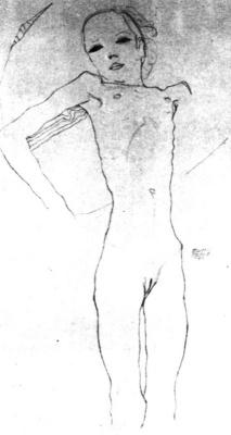 Эгон Шиле. Обнаженная