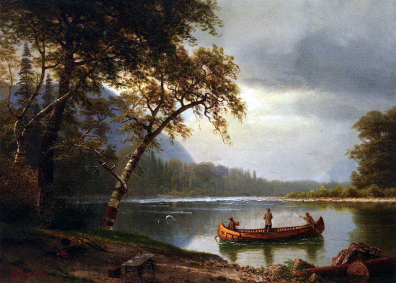 Albert Birštadt. The salmon fishing on the river Cascapedia