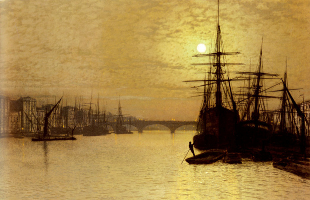 John Atkinson Grimshaw. London bridge