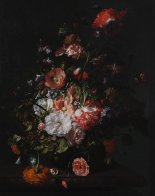 Rachelle Ruysch. Still life with flowers