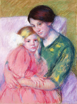 Mary Cassatt. Mother and child reading