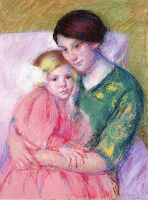 Mary Cassatt. Mother and child reading