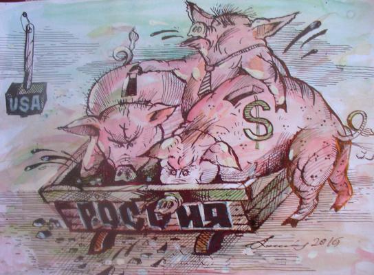 Sinchinov. Caricature