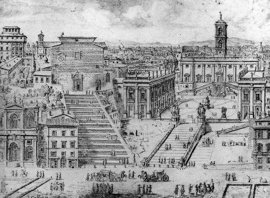 Ливен Круул. Вид на Капитолии в Риме