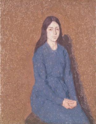 Гвен Джон. Girl in a Blue Dress