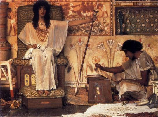 Лоуренс Альма-Тадема. Иосиф, надзиратель зернохранилищ фараона