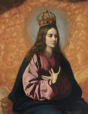 Francisco de Zurbaran. Queen of angels