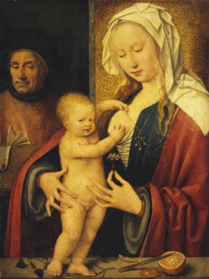 Йос ван Клеве. Святое семейство.