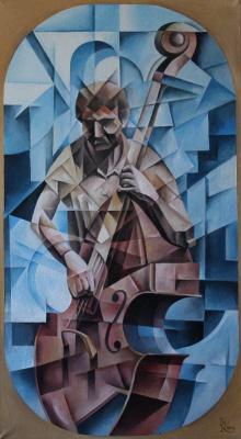 Vasily Krotkov. Bassist. Kubofuturizm