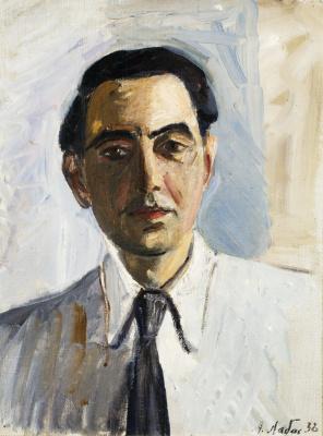 Александр Аркадьевич Лабас. Автопортрет в белой рубашке