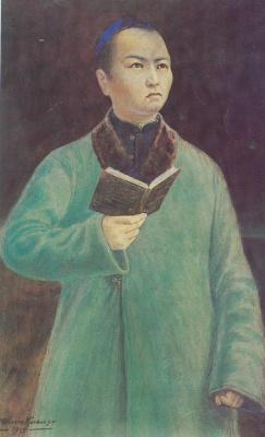 Abylkhan Kasteevich Kasteev. Abai's portrait