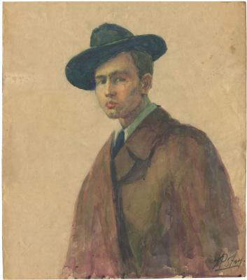 Alexandrovich Rudolf Pavlov. Self portrait, 1957