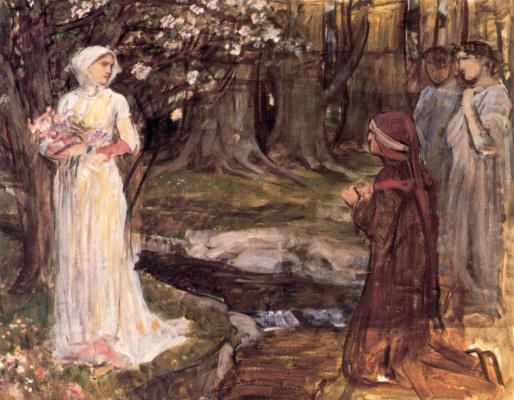 John William Waterhouse. Dante and Beatrice. Sketch