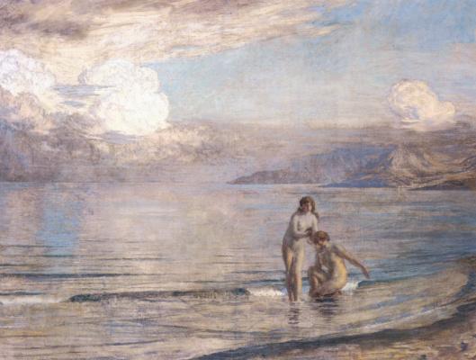 Marie Auguste René Emil Menard. Bathers on the beach
