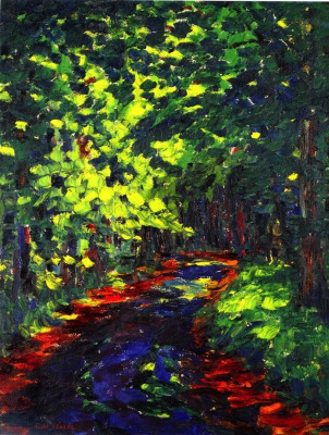 Emil Nolde. Forest road