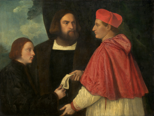 Titian Vecelli. Girolamo and cardinal Marco corner