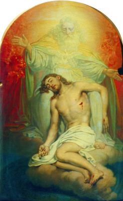 Vladimir Lukich Borovikovsky. God the father, contemplating the dead Christ. Sketch