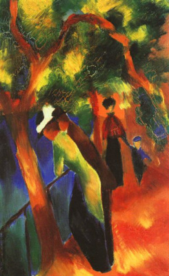 August Macke. The lady and the gentleman