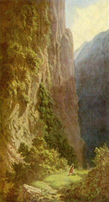 Are Still Carl Spitzweg. Reaper in the mountains