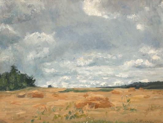 Stanislav Yulianovich Zhukovsky. Landscape with beveled lug