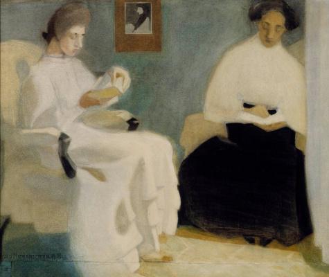 Helena Sophia Scherfbek. Reading girls