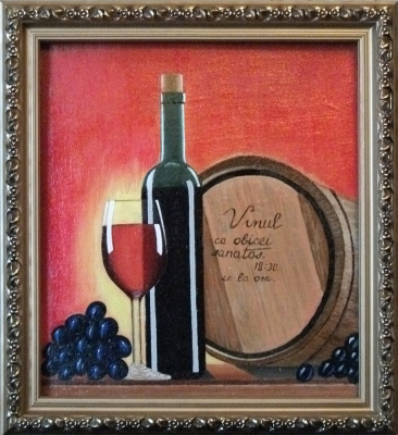 Victor Petrovich Burmin. Still life with wine # 8