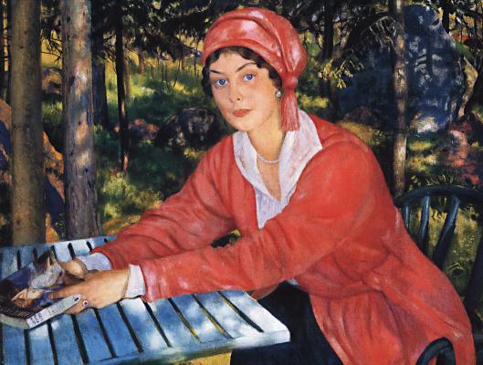 Boris Mikhailovich Kustodiev. Portrait of Countess Grabowska