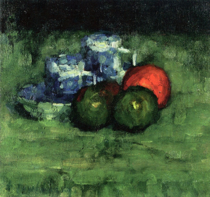Alexey Georgievich Yavlensky. Two blue mugs and apples