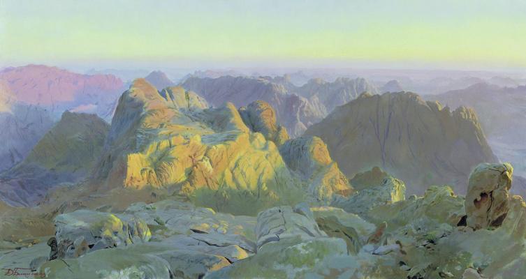 Dmitry Anatolyevich Belyukin. Dawn in Sinai
