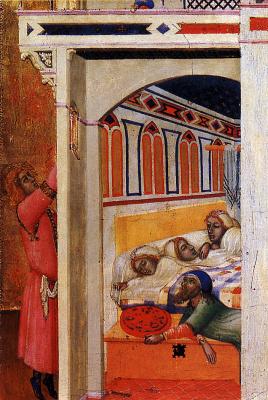Амброджо Лоренцетти. Милосердие Святого Николая Мирликийского