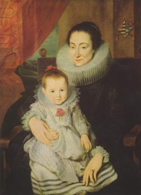 Anthony van Dyck. Portrait of Maria Clarisse, wife of Jan Voveris, child
