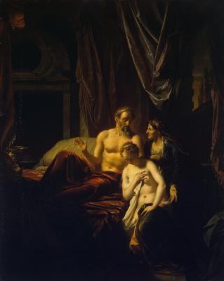 Адриан ван дер Верф. Сарра вводит Агарь к Аврааму